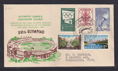 Souvenir Cover. 1956 Olympics With The Stadium Cancel, Posted On Opening Day.