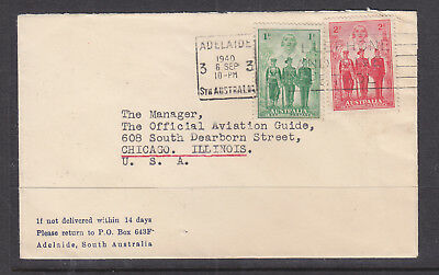 """1940 1d AND 2d A.I.F. ON ADVERT COVER """" GUINEA AIRWAYS LTD"""" ON BACK OF THE COVER"""