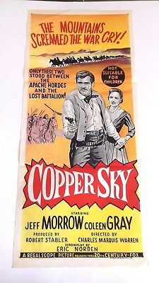 Vintage Film Poster = Copper Sky = Jeff Morrow