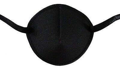 Eye Patch, CLASSIC BLACK Soft and Washable for Left or Right Eye