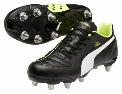 Puma evoPower 4 H8 Adults Black/White/Yellow Rugby Boots