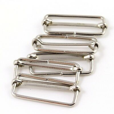 40mm 1 5/8 in. Chrome Metal Strap Adjuster Slider for Bag Making Straps (M053)