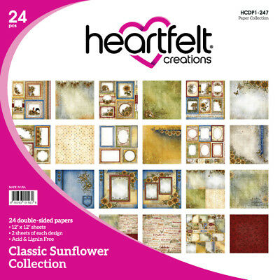 Heartfelt Creations Classic Sunflower Collection 12x12 Cardstock Paper Pad