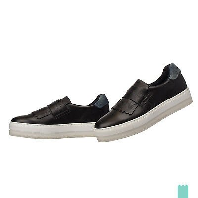 RRP €150 DIESEL Size 36 UK 3 S-ANDYES MOC W Fringe 100% Leather Slip On Sneakers