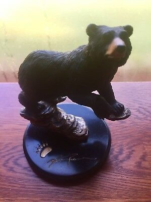 Marc pierce Bear Sculpture By Big Sky Carvers -Yona #A706
