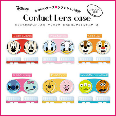 [SHO-BI x DISNEY] Character Contact Lens Case Stitch Pooh Mickey JAPAN NEW