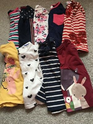 9 X Girls Long Sleeve T Shirts. Size 12-18 & 18-24 Months. Bundle