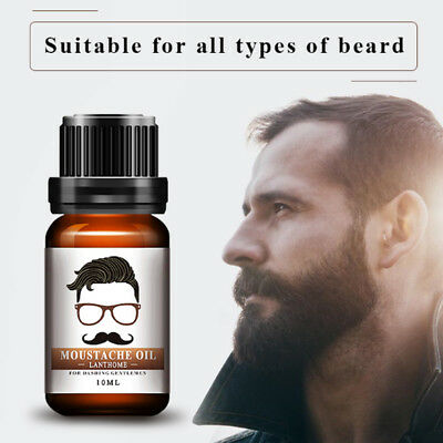 10ML Men Natural Moustache Balm Oil Beard Wax Treatments Hair Moisturizing HOT
