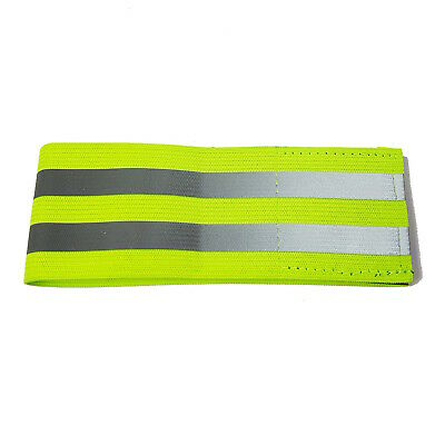 Hi Vis Reflective Armband / Ankle Band - Fluorescent Yellow - Cycle Run Safety