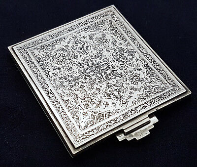 Extremely Fine Quality Antique Persian Islamic Solid Silver Matchstick Case 61g