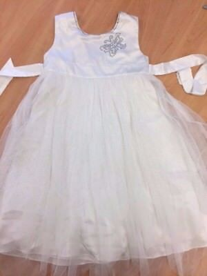 Girls M&S Autograph White Christmas / Party Dress Age 6-7