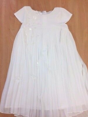 Girls John Rocha Party White Pleasted Dress Age 7