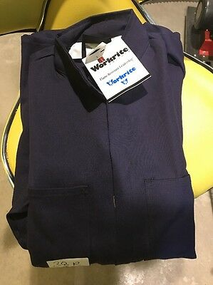 NEW WORKRITE Small Flame Resistant Industrial Coverall Navy Blue (38 Reg)
