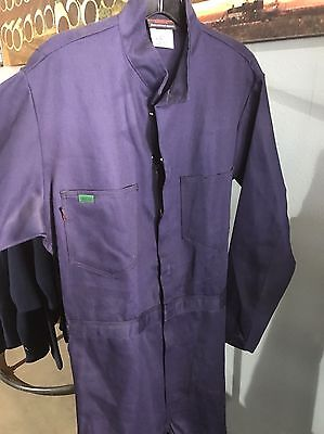 New Medium Tall Workrite Navy Flame Resistant Coveralls Size 40L