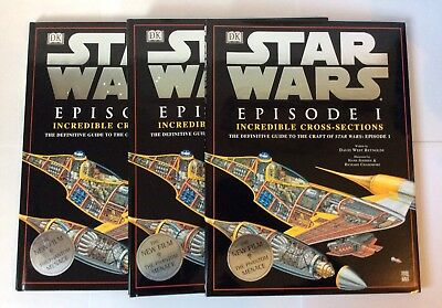 Lot of 3~ Star Wars Episode I: Incredible Cross Sections by David West Reynolds