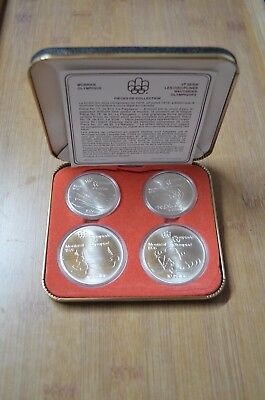 XXI Olympiad Montreal 1976 Silver Uncirculated Coin Set