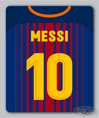 BARCELONA themed MOUSEMAT mouse mat pad PERSONALISED football kit style