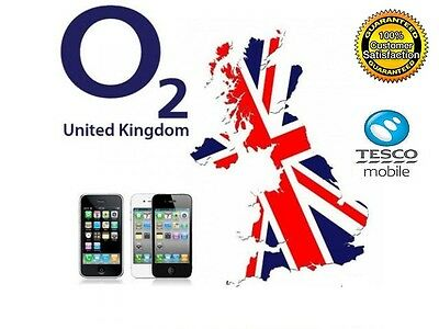 Apple iPhone 3 4 4S 5 5C 5S 6 6+ O2 & TESCO UK Unlocking Service Fast Delivery