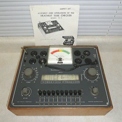 VINTAGE HEATHKIT Model TC-2 TUBE TESTER with (Printed) Manual