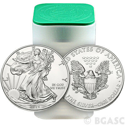SALE Year 2014 1 oz Silver American Eagle Coins (Lot, Roll, Tube of 20)