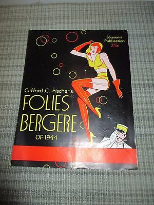 """1944 """"Folies Bergere"""" Program in San Francisco by Clifford C Fisher NW Edition"""
