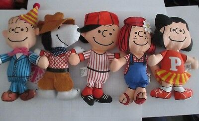 5 -  Peanuts gang - Charlie Brown, Snoopy, Linus, Lucy & Peppermint Patty -  6""