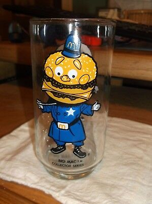 Vintage 1977 McDonald's Big Mac Collector Series 5-3/4'' Glass