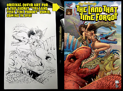 LAND THAT TIME FORGOT Original Cover Art by Mike Wolfer!