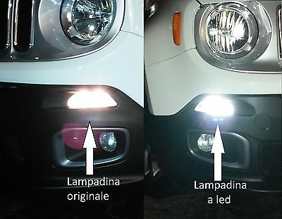 JEEP RENEGADE LAMPADINE bay15d DIURNE-POSIZIONE LED NO ERROR by SIMONI RACING