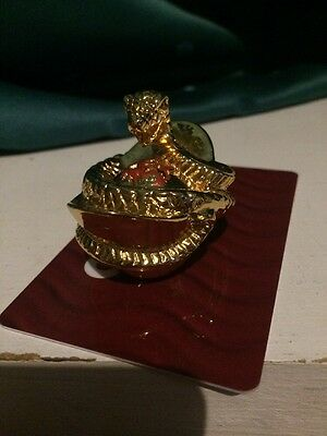 golden Chinese desktop souvenir, paper, office, gold, snake, paper weight, gift