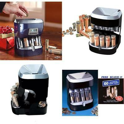 Profesional Coin Sorter Desk Counter Bank Tool Coins Wrapper Change Machine Home
