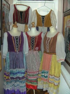 Ladies Pantomime Costume Dresses X5  Vintage By Charles H Fox Theatre Theatrical