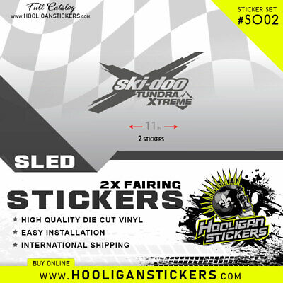 Ski-Doo Tundra Xtreme Stickers | Decal | All Years | Many Colors Tx02