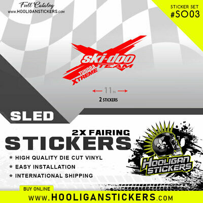 Ski-Doo Team [Tundra Xtreme] Stickers | Decal | All Years | Many Colors Tx03