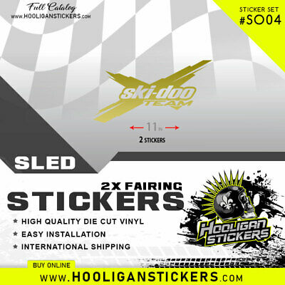 Ski-Doo Team Stickers | Decal | All Years | Many Colors Tx04