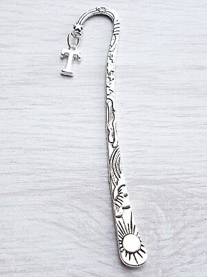 PERSONALISED 12cm BOOKMARK CHARM  NOVELTY GIFT BOOKMARKS PICK YOUR OWN LETTER