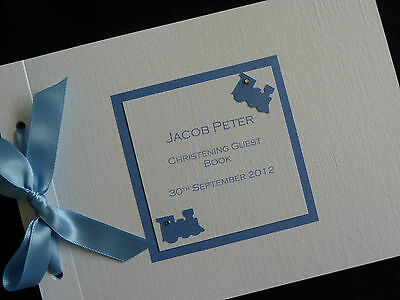 Personalised Handmade Christening Guest Signing Book Butterfly Design