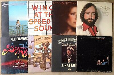 "Lot of 8 * CLASSIC ROCK/POP 12"" Vinyl * VG-VG+ Cond * Jimmy Buffett, Wings +"