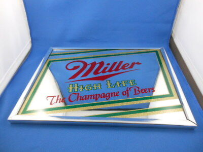 """Miller High Life """"the Champagne Of Beers"""" Mirror Chrome Frame"""
