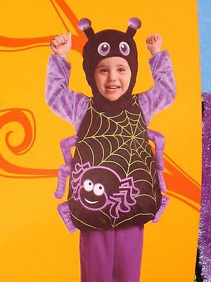 Spider Costume With Hood - Infant - Age 6-12 Months - Brand New With Tag !