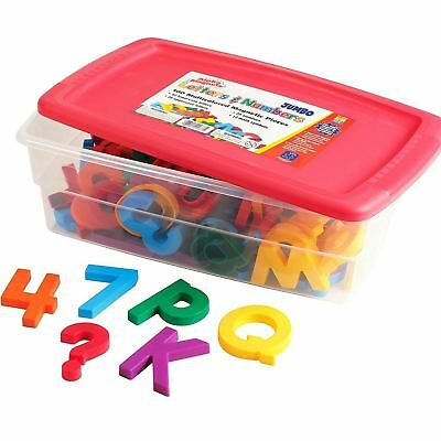 Educational Insights Jumbo AlphaMagnets and MathMagnets Combo Set-Multicolored