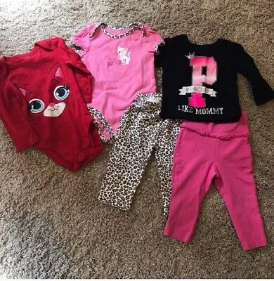 Childrens Place Baby Girl Tops And Legging Bundle Size 9-12 Months