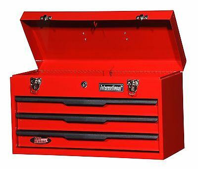 Red Steel Tool Box Cabinet Storage Organizer 3 Drawer Wrench Socket Screwdriver