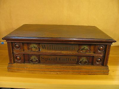 Circa 1880 Willimantic Thread Spool Cabinet Eastlake Style 2 Drawer