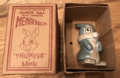 Young Epoch Retro Toy Japanese Thumper Bambi Wooden Doll Toy Disney W/ Box! Rare
