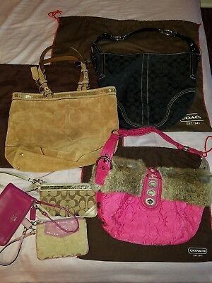 COACH Lot of 3 bags and 3 wristlets