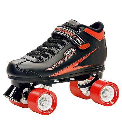 Size 7 Mens Roller Skates Outdoor Sports Black and Red Viper M4 Sporting Goods