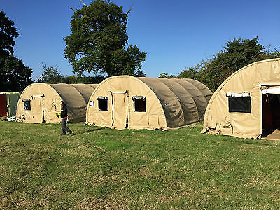 Military Shelter Army Tent 26 x 20 x 10ft Pre-Fab Marquee Storage MOD Workshop