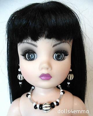 """OOAK DOLL JEWELRY for 21"""" CISSY and similar sized dolls BLACK & WHITE - NO DOLL"""