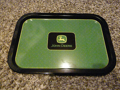 John Deere Tractor Green Metal Servering Party Tray Home Decor 14x10